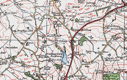 Old map of Addlingham Low Moor in 1925