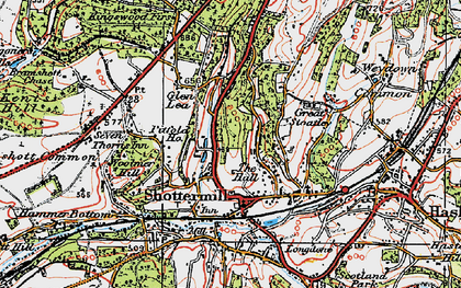 Old map of Critchmere in 1919
