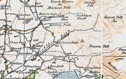Old map of Harris Side in 1925