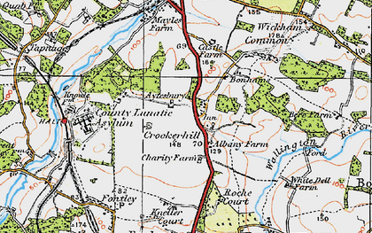 Old map of Wickham Common in 1919