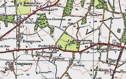 Old map of Aldingbourne Ho in 1920
