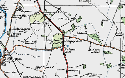 Old map of Link Hall in 1924