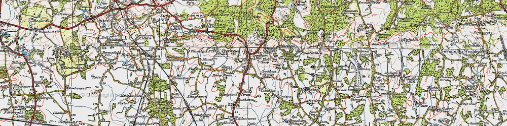 Old map of Crockham Hill in 1920