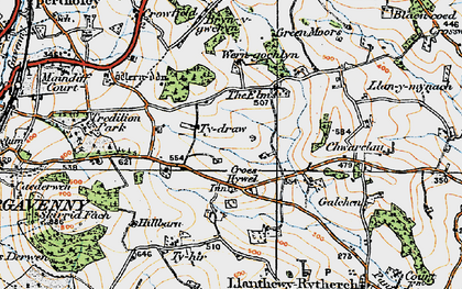 Old map of Ysgyrd Fach in 1919