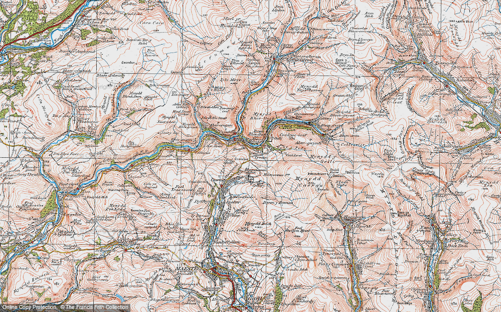 Old Map of Croeserw, 1923 in 1923
