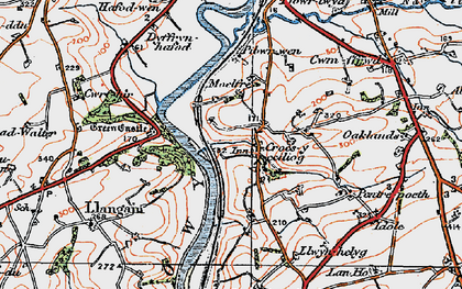 Old map of Croesyceiliog in 1923