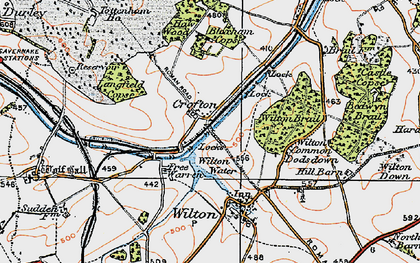 Old map of Wilton Brail in 1919