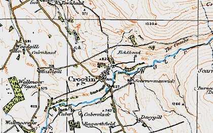 Old map of Croglin in 1925
