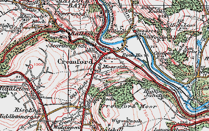 Old map of Cromford in 1923