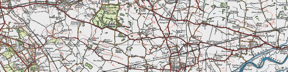 Old map of Cronton in 1923