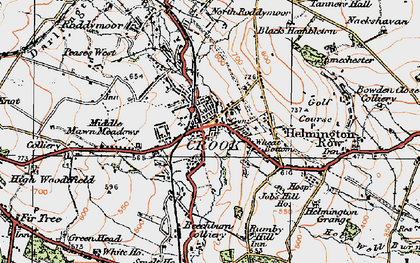 Old map of Crook in 1925