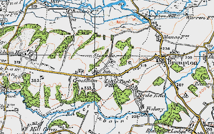 Old map of Crookham in 1919