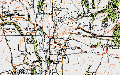 Old map of Cropton in 1925