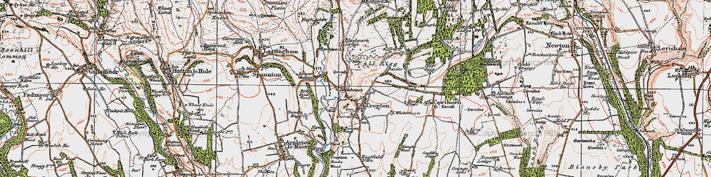 Old map of Whitethorn in 1925