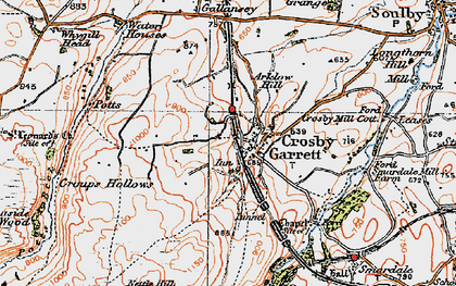 Old map of Arklow Hill in 1925