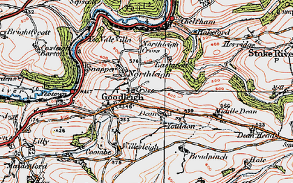 Old map of Youlden Ho in 1919