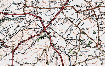 Old map of Cross Hands in 1923