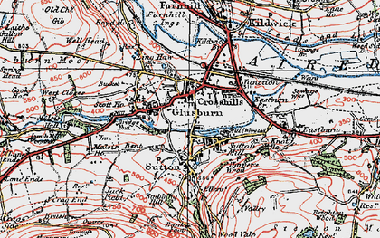 Old map of Ling Haw Hill in 1925