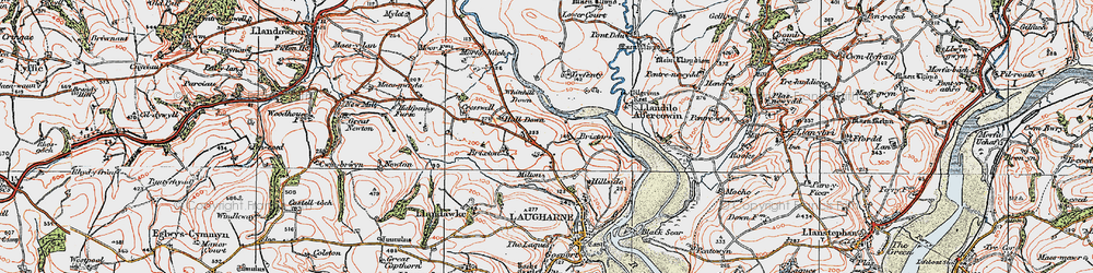 Old map of Whitehill Down in 1922