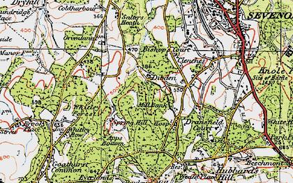 Old map of Cross Keys in 1920