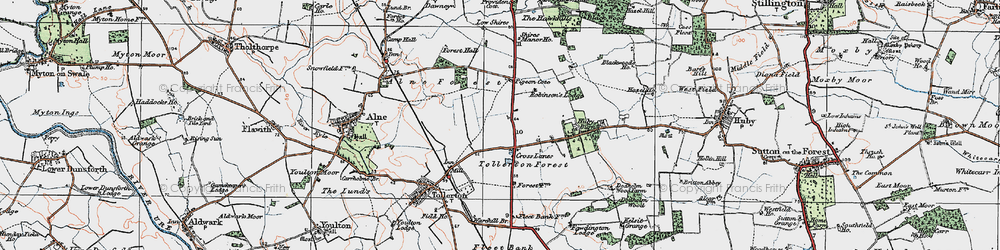 Old map of Tollerton Forest in 1924