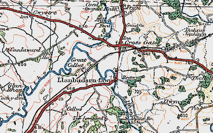 Old map of Crossgates in 1923