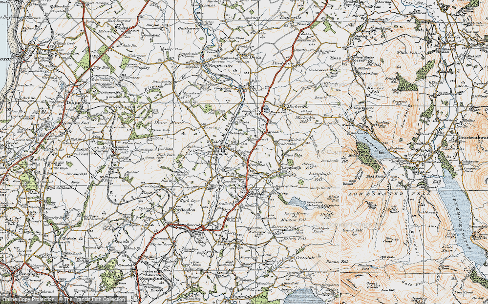 Old Map of Historic Map covering Todhole in 1925