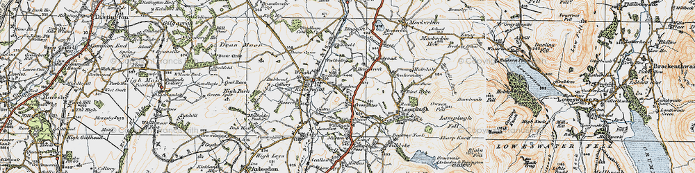Old map of Todhole in 1925