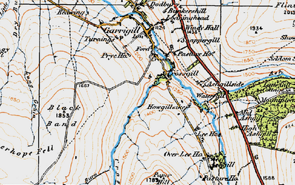 Old map of Ash Gill in 1925