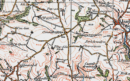 Old map of Crosshands in 1922