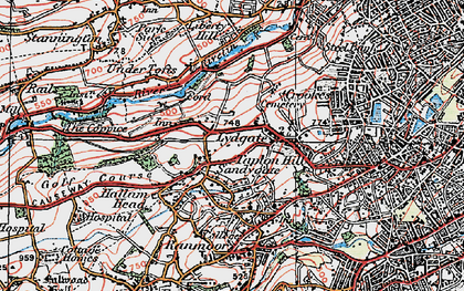 Old map of Crosspool in 1923