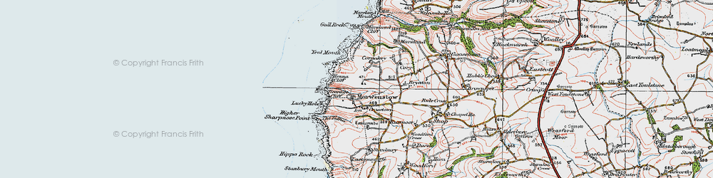 Old map of Tidna, The in 1919