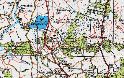 Old map of Crosswater in 1919