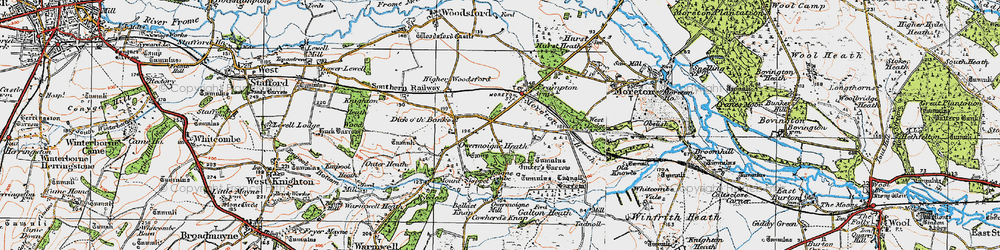 Old map of Tinker's Barrow in 1919