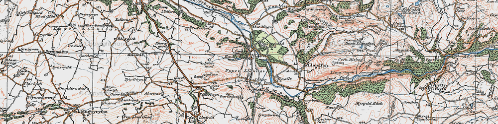 Old map of Crosswood in 1922