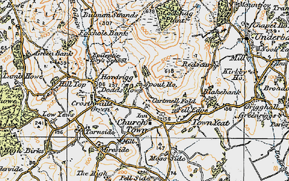 Old map of Crosthwaite in 1925