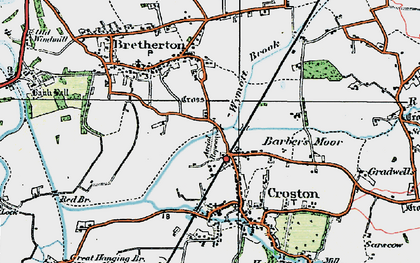 Old map of Croston in 1924