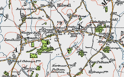 Old map of Westrow in 1919
