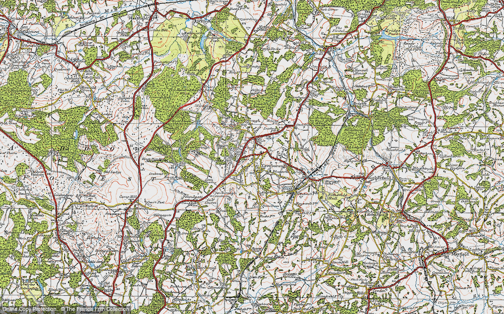 Old Map of Crowborough, 1920 in 1920