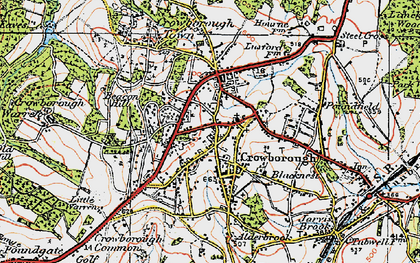 Old map of Crowborough in 1920