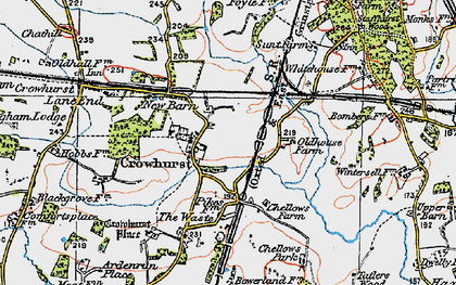 Old map of Crowhurst in 1920