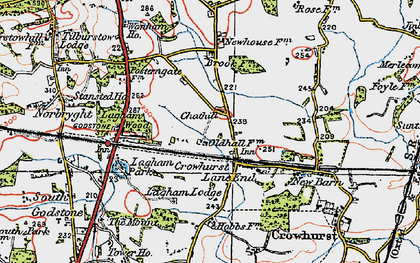Old map of Crowhurst Lane End in 1920