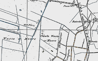 Old map of Crowle Waste in 1924