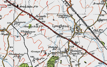 Old map of Crownhill in 1919