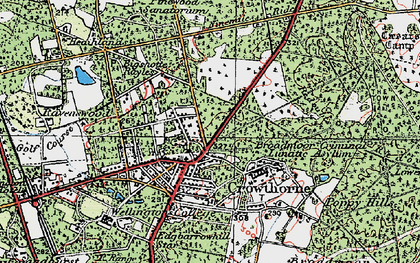 Old map of Crowthorne in 1919