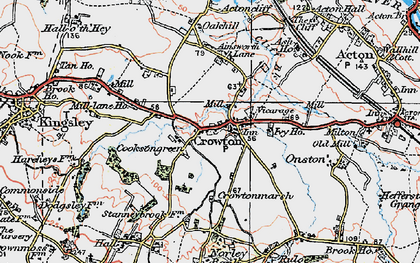 Old map of Crowton in 1923