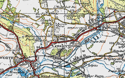 Old map of Croxley Green in 1920