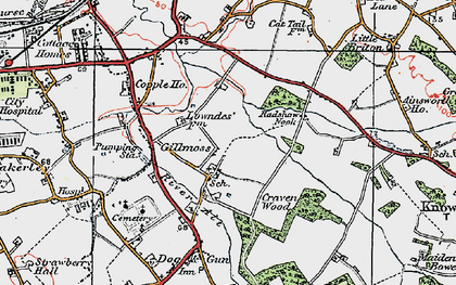 Old map of Croxteth in 1923