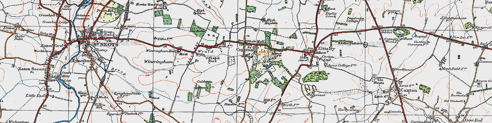 Old map of White Hall in 1919