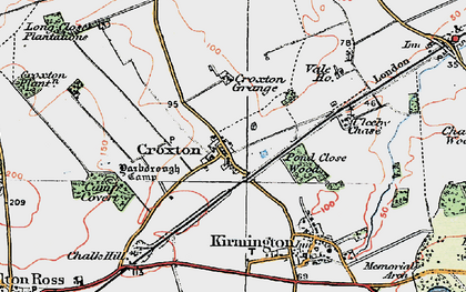 Old map of Yarborough Camp in 1923